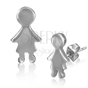 Sima bedugós fülbevaló acélból - kisfiú alak
