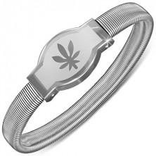 Karkötő acélból - marihuánaleveles tábla, rugalmas