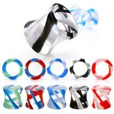 Nyereg alakú fültágító - UV pyrex glass