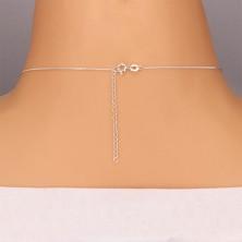 Nyaklánc 925 ezüstből - háromszög cirkónia és díszes akasztó