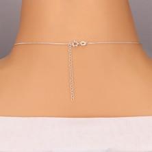 Nyakék 925 ezüstből - szív alakú kulcs lánccal