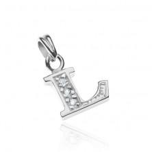 Medál 925 ezüstből - L betű, gravírozás és cirkóniák