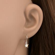 Akasztós ezüst fülbevaló - szivárványszínű kő pálcákkal