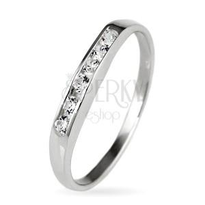 925 ezüst gyűrű - ragyogó cirkónia sor