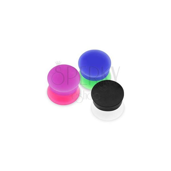 Nyereg alakú plug - két különböző színű felület