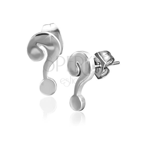 Bedugós fülbevaló sebészeti acélból - fényes kérdőjel