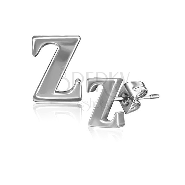 Nemesacél fülbevaló - Z betű, stekkeres