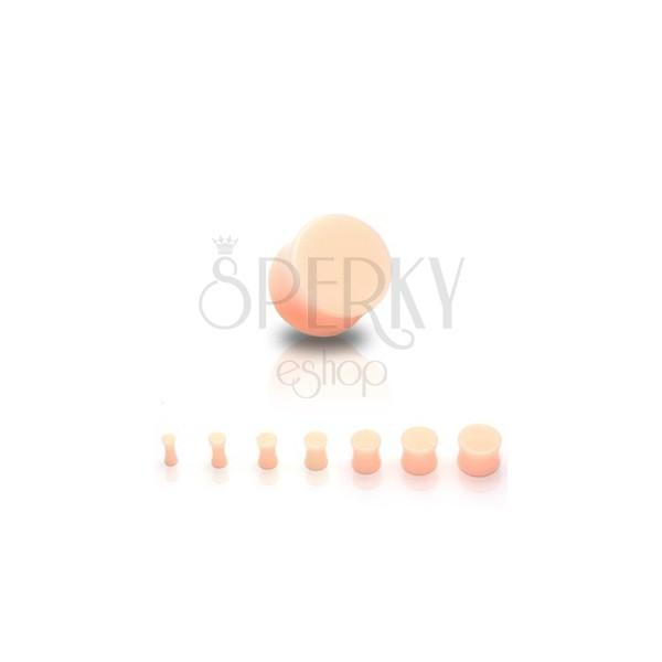 Fültágító dugó - UV akril, nyereg forma, testszínű