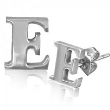 Fülbevaló minőségi acélból - fényes E betű