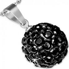 Acél medál - SHAMBALLA golyócska fekete színben